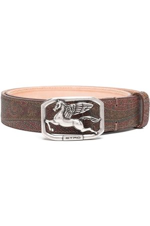 Etro Logo-plaque paisley belt