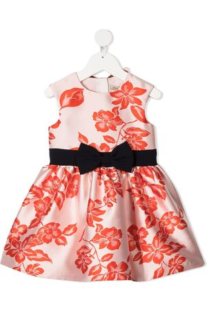 HUCKLEBONES LONDON Floral-print bow-belt party dress