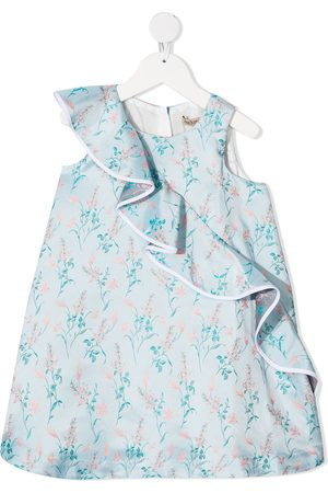HUCKLEBONES LONDON Floral-print ruffle-detail dress