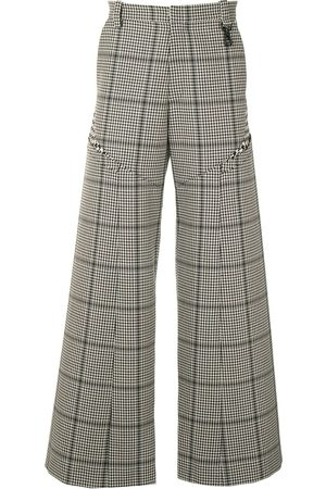 Marine Serre Plaid wide-leg trousers
