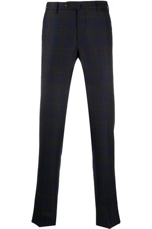 PT01 Checked tailored wool trousers