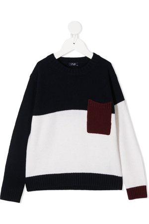 Il gufo Colour-block knitted jumper