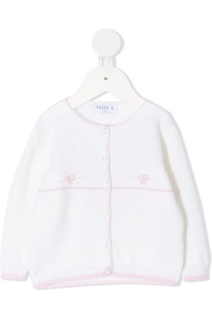SIOLA Purl-knit embroidered cardigan