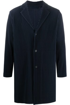HOMME PLISSÉ ISSEY MIYAKE Fitted single-breasted coat