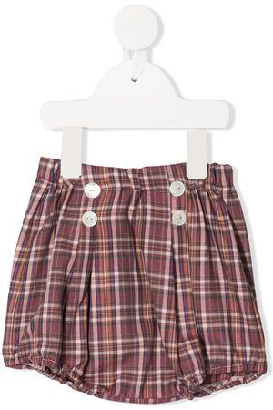 SIOLA Plaid print high-waisted bloomer shorts
