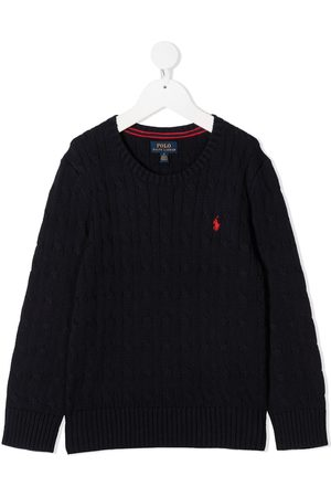Ralph Lauren Long-sleeved embroidered logo jumper