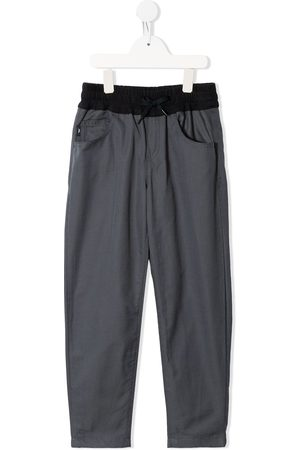 Emporio Armani Two-tone drawstring-waist trousers