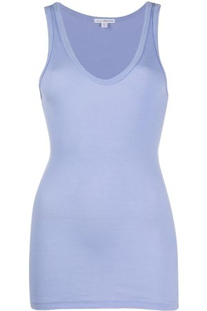 James Perse Scoop-neck tank top