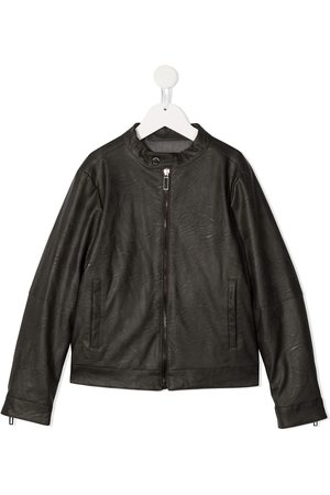 Paolo Pecora Faux leather bomber jacket