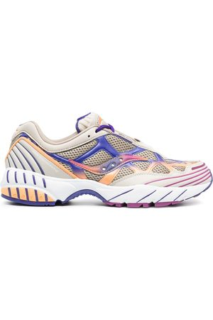 Saucony Wave-panelled low-top trainers
