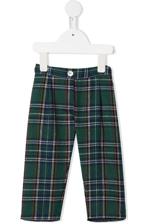 SIOLA Check pattern pull-on trousers