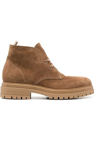 Gianvito Rossi Lace-up suede desert boots