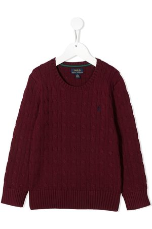 Ralph Lauren Cable knit logo embroidered jumper