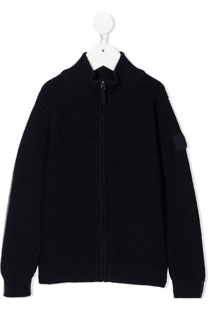 Il gufo Reversible zip-up knitred jacket