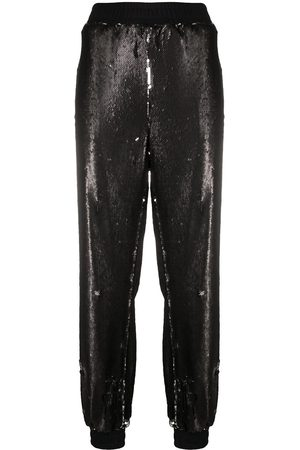 Styland Sequin-embellished track pants