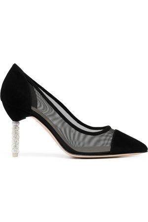 SOPHIA WEBSTER Jasmine crystal-embellished mesh pumps