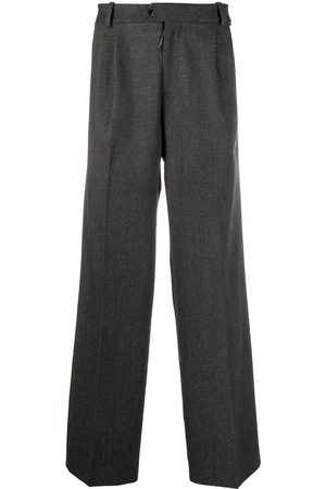 OFF-WHITE Twill pleated tailored trousers