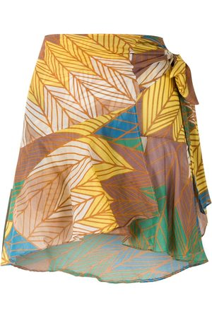 AMIR SLAMA Printed wrap skirt with panels