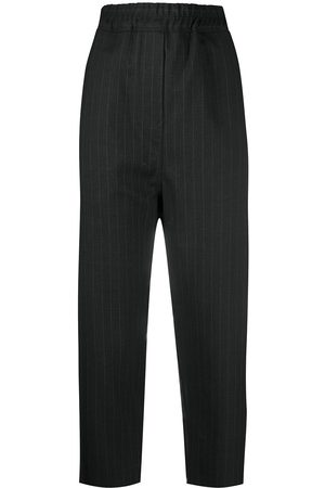 NILI LOTAN Drop-crotch pinstripe trousers
