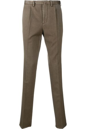 DELL'OGLIO Inverted pleat wool trousers