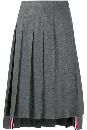 Thom Browne Dropped back pleated skirt