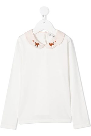 Lanvin Fox-embroidered collar top