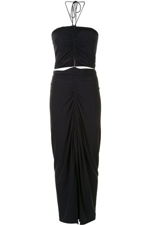 DION LEE Gathered necklace midi dress