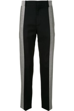 Alexander McQueen Two-tone wool tailored trousers