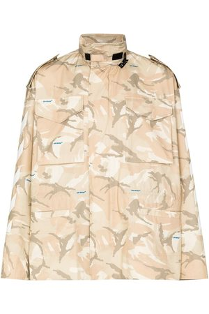 OFF-WHITE X Browns 50 camouflage military jacket