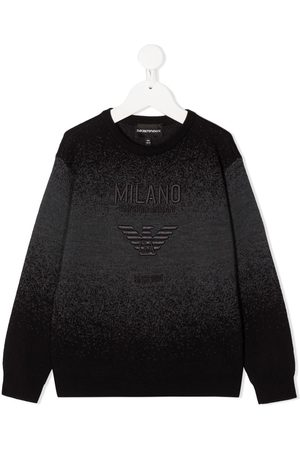 Emporio Armani Logo embroidered crew neck jumper