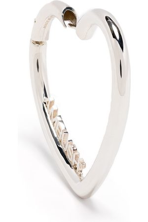 AMBUSH LADIES SMALL HEART HOOP EARR. SIL