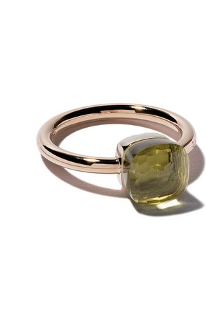 Pomellato 18kt rose & white small Nudo lemon quartz ring