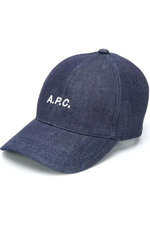 A.P.C. Embroidered logo denim cap