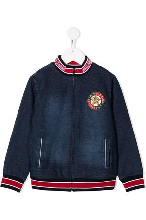 Dolce & Gabbana Medal patch zip-up bomber