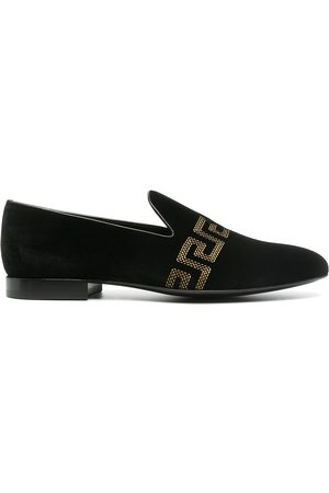 VERSACE Greca-embroidered loafers