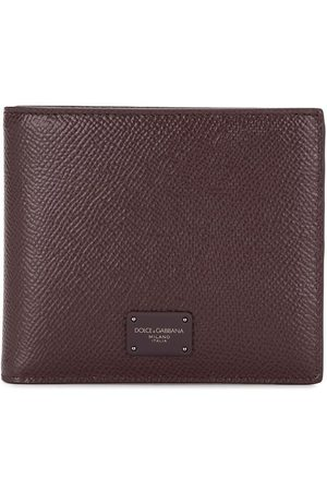Dolce & Gabbana Textured logo plaque wallet