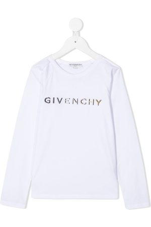 Givenchy Logo embroidered long-sleeve top