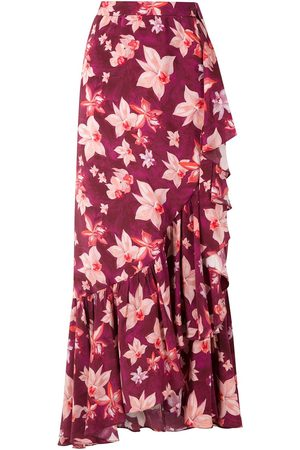 Isolda Carmen silk crepe skirt