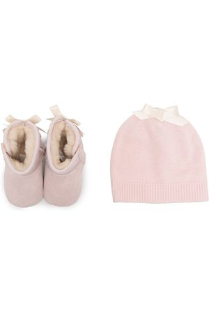 UGG Beanies - Lace-detail pre-walker and beanie set