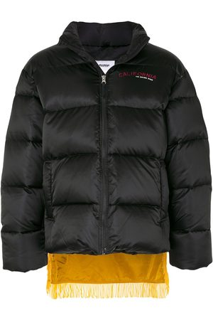 DOUBLET Fringed puffer coat
