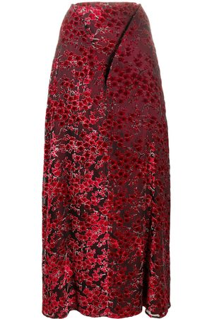 Y / PROJECT Embroidered floral maxi skirt
