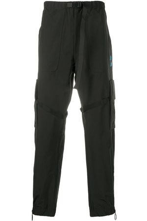 OFF-WHITE OFFF belted-waist cargo trousers