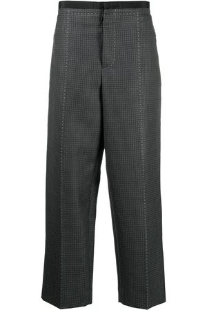 Maison Margiela Wool check straight trousers