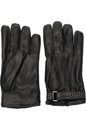Ermenegildo Zegna Crocodile effect strap gloves