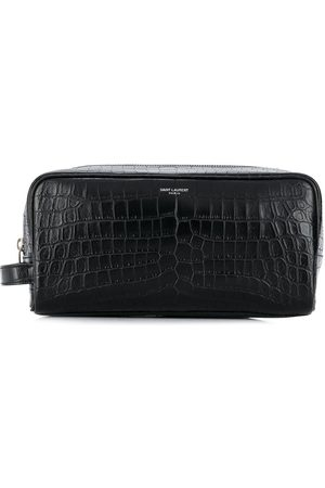 Saint Laurent Zipped leather wash bag