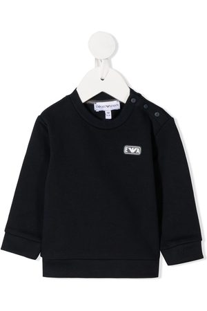 Emporio Armani Logo patch cotton sweatshirt