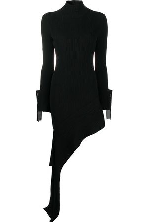 OFF-WHITE Draped asymmetric knitted dress