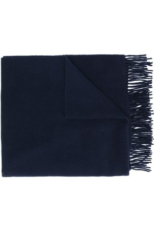 Moncler Logo patch fringed scarf