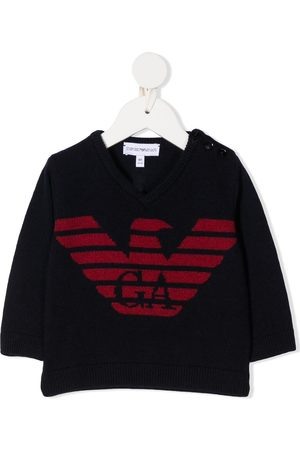 Emporio Armani Long-sleeved knitted logo jumper