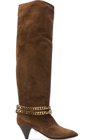 Alevì Camille chain-embellished knee-high boots